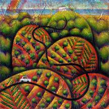 www.jamesfrisino.com Painting by James Frisino Love Arrives Downunder